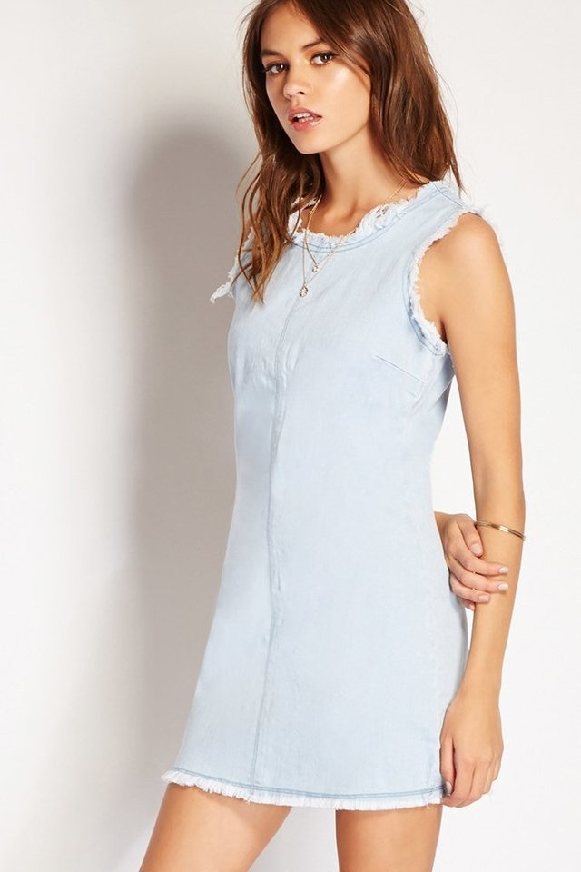 Vestido mini de denim Forever 21 en internet