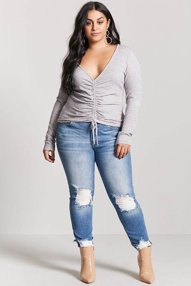 Remera manga larga Plus Size Forever 21 en internet