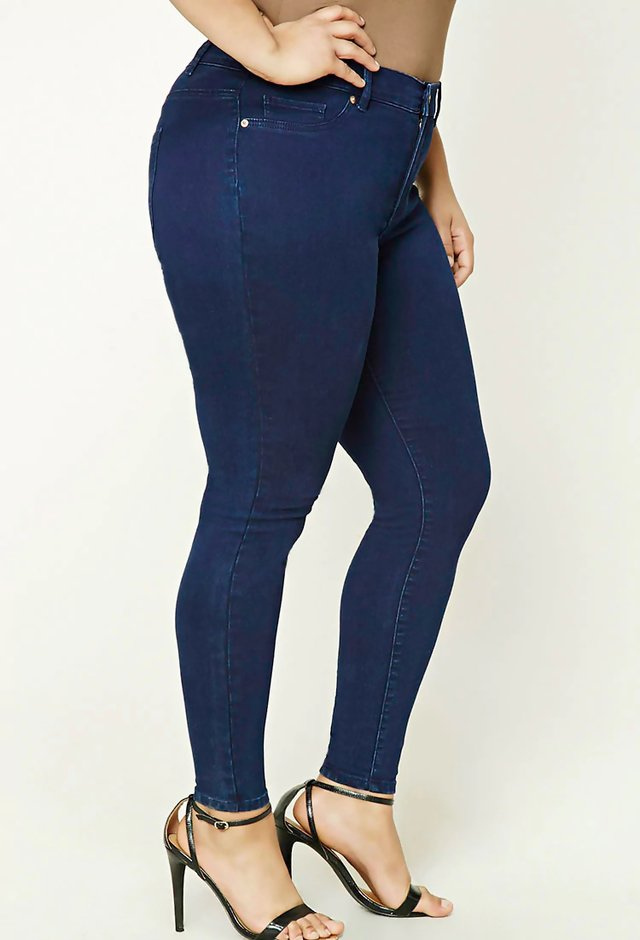 Jean chupin plus size - talles grandes forever 21 - comprar online