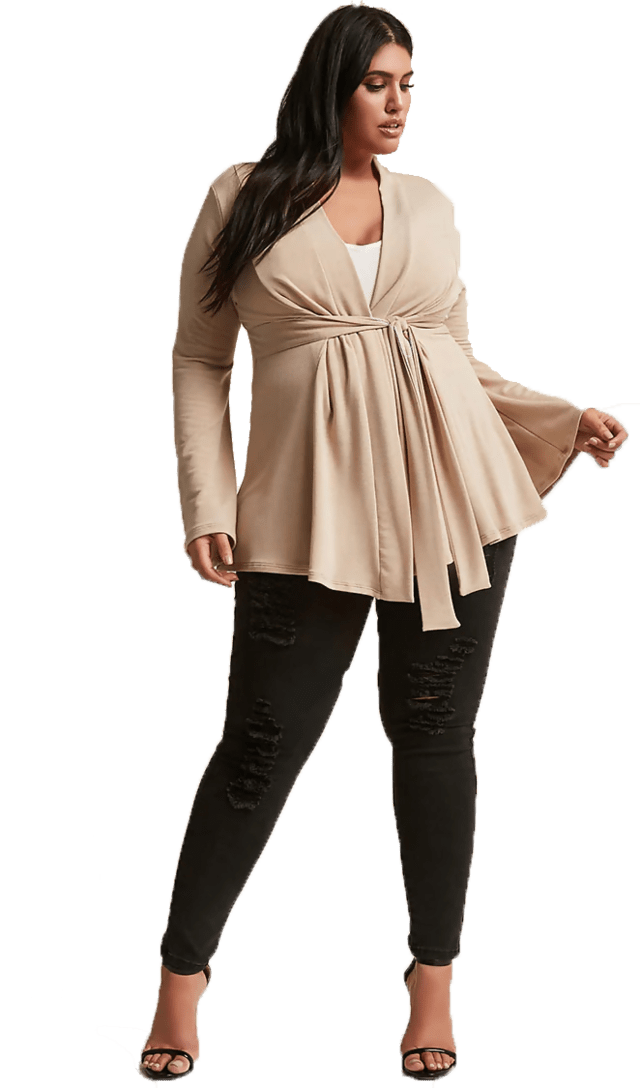 Cardigan con lazo Plus Size - Talles Grandes - Forever 21