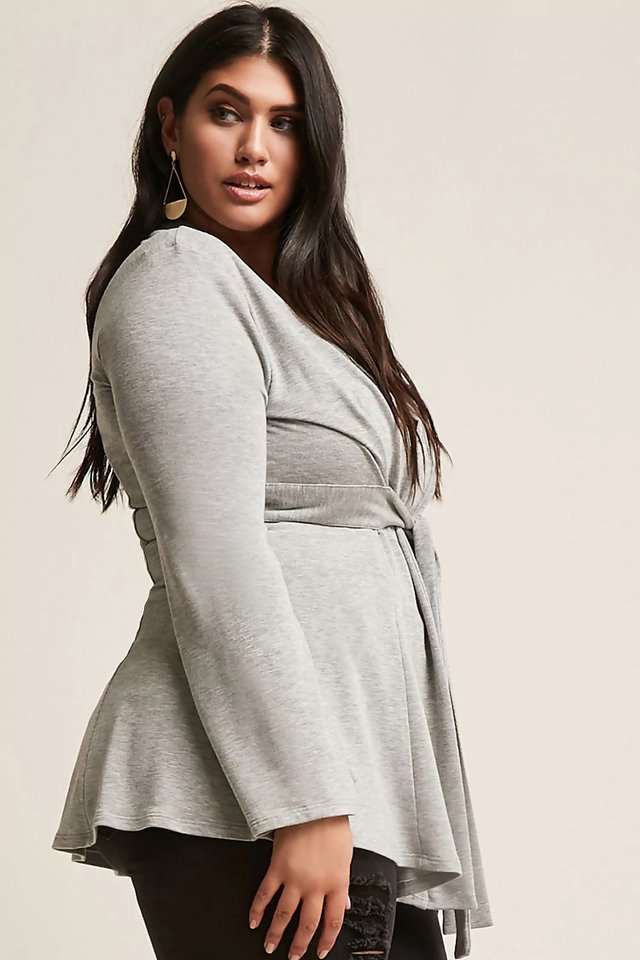 Cardigan con lazo Plus Size - Talles Grandes - Forever 21 - Majas