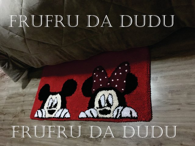Tapete Frufru para Quarto do Mickey e da Minnie