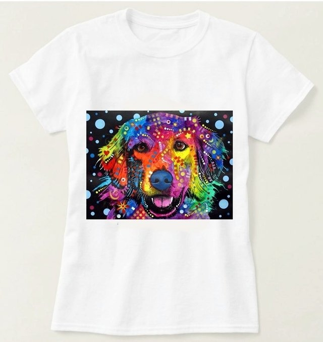 Camiseta Golden Retriever Colorido