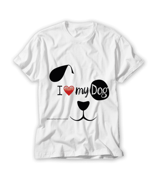 Camiseta I Love My Dog - comprar online