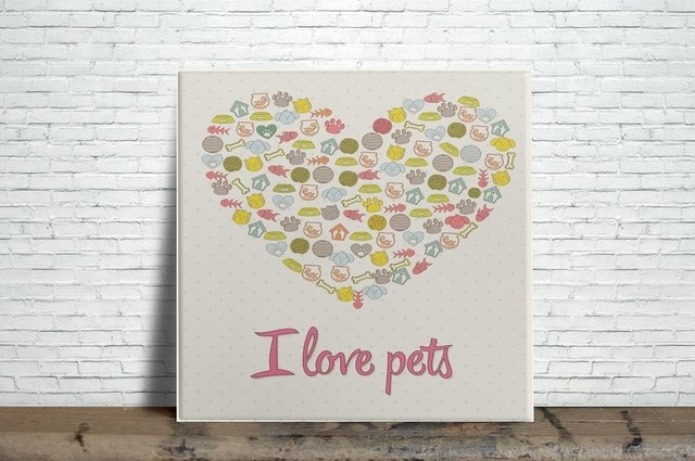 Azulejo Decorativo I Love Pets