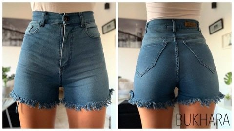 SHORT DESFLECADO LISO