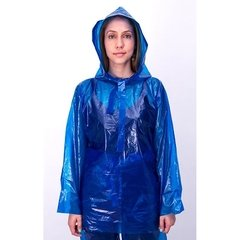 impermeable azul mujer