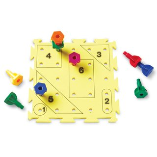 Juego Rainbow Peg Play Activity Set de Learning Resources - Ad Activos y divertidos