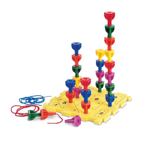 Juego Rainbow Peg Play Activity Set de Learning Resources