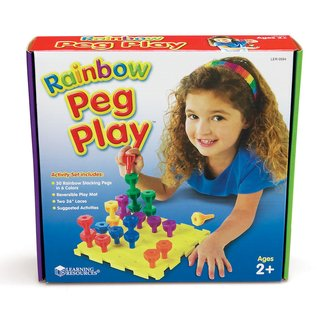 Imagen de Juego Rainbow Peg Play Activity Set de Learning Resources