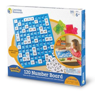 Tablero 120 Números de Learning Resources (120 Number Board) en internet