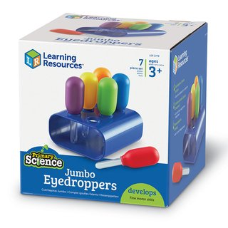 Goteros Ciencia Básica de Learning Resources (Primary Science Jumbo Eyedroppers with Stand) - tienda online