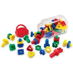 Juego de Tuercas y Tornillos de Learning Resources (Attribute Nuts & Bolts) - comprar online