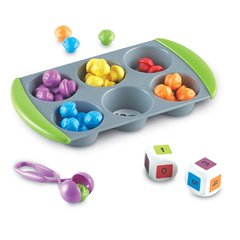 Actividades Matemáticas con Mini Muffins de Learning Resources (Mini Muffin Match Up Math Activity Set) - comprar online