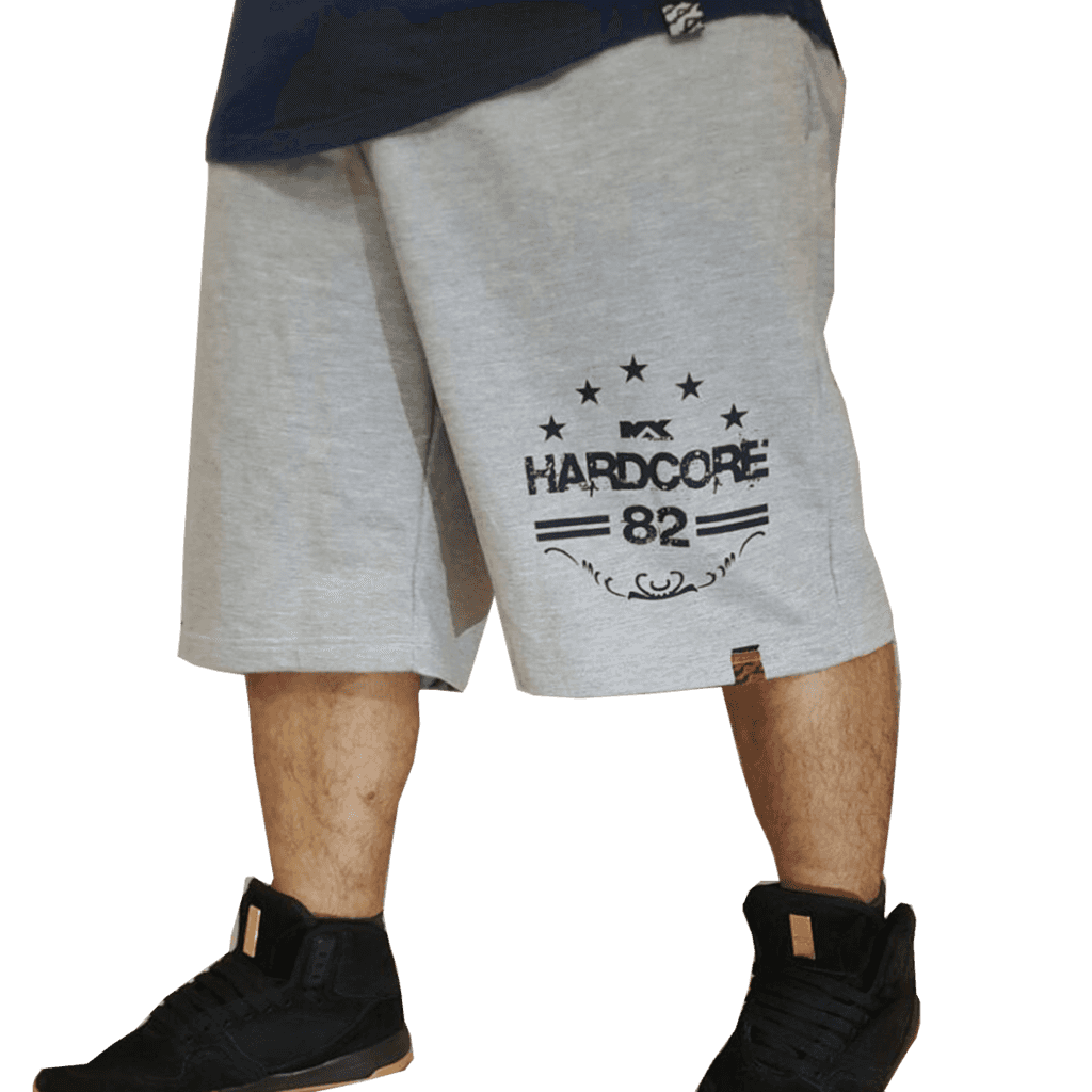 5de66b86cb285 Bermuda Shorts Calção Moletom Academia Treino Hardcore - Max Force