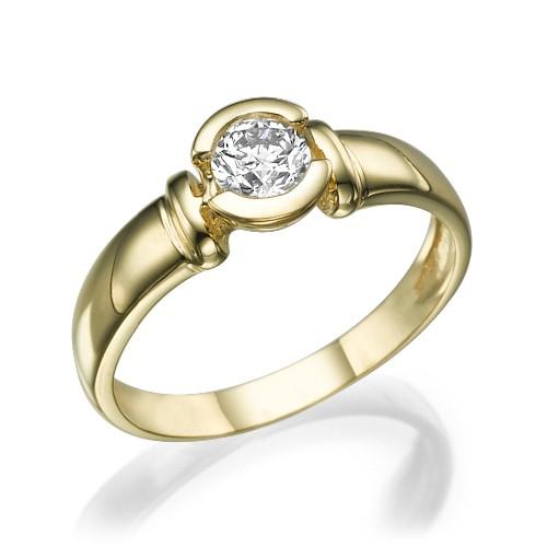 e3f01b9949b7f Anel Solitário em Ouro 18K com Diamante 20 pontos Código  18K180520000041