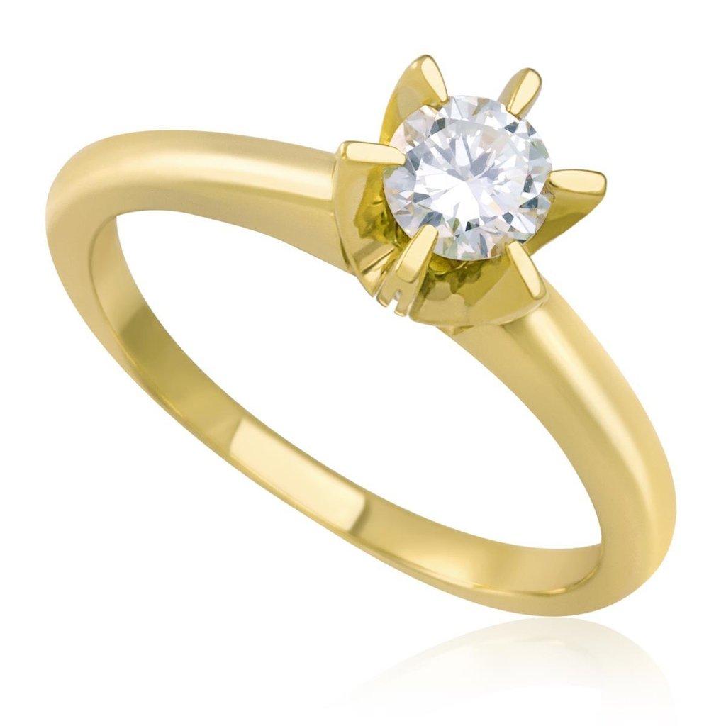 3f4ba28d957 Anel Solitário Ouro 18k com Diamante de 20 pts código  18Ka1182