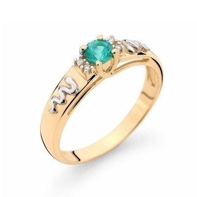 e0c7cb6b81658 Anel de Formatura em ouro 18k com pedra central natural e diamantes  naturais Código  18K1911201544