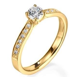 b5db63ff7333c Anel Solitário Em Ouro 18k Com Diamantes Código  18K56414 - comprar online  ...