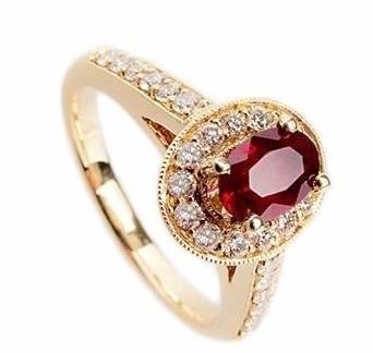 Anel Em Ouro 18k Com Esmeralda (Safira ou Rubi) E Diamantes Código   18K0001147 57d3f657b5