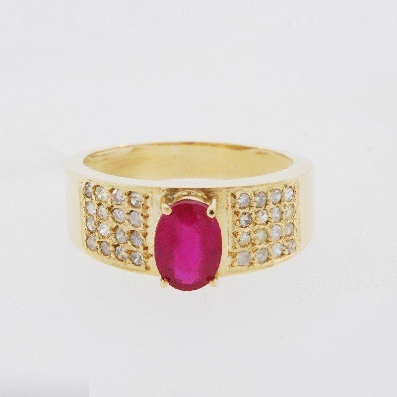 8cec0ea570eb9 ... Anel Em Ouro 18k Com Rubi Natural E Diamantes Código  18Kml15 - comprar  online