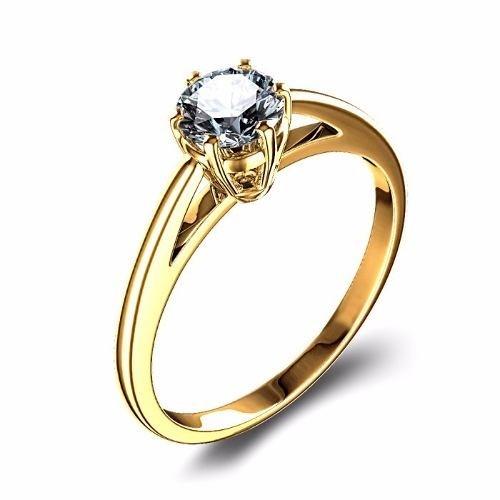 d0dfaaf1b30d8 Anel Ouro 18k Solitário Noivado Diamante 15pts - Código  18Ksolitario76