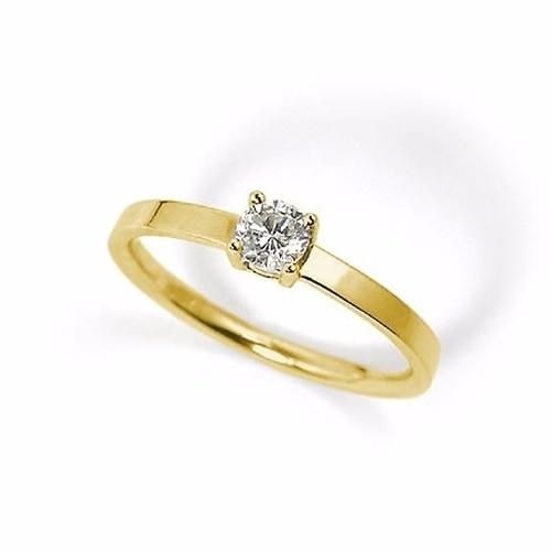 d6b2ed358bc92 Anel Solitário Em Ouro 18k Com Diamante Código  18K56435 - comprar online