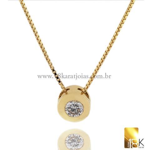 f68bac93bf258 Ponto de Luz Em Ouro Amarelo Com Diamante Código  18KPDLOAD0005