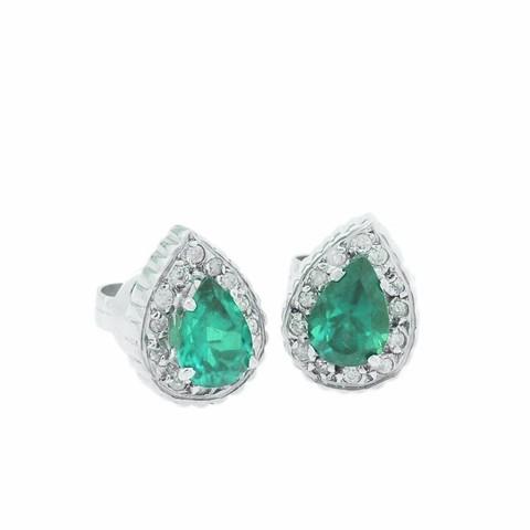 e04aa65490414 Brinco Em Ouro 18k Com Esmeraldas e diamantes Código  18K04541e - comprar  online