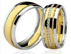 06b4847d8b9d2 Par de alianças em ouro 18k e diamantes Código  18K56343b - comprar online
