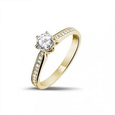 7d3851bab74 Anel solitário em ouro 18k com diamantes Código  18knovas1018 - comprar  online