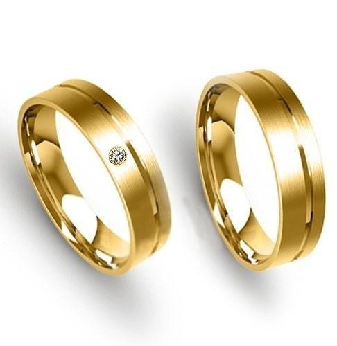 390b199989345 ... Par De Alianças Em Ouro 18k Diamante De Brinde - Código  18K95464981 - comprar  online ...