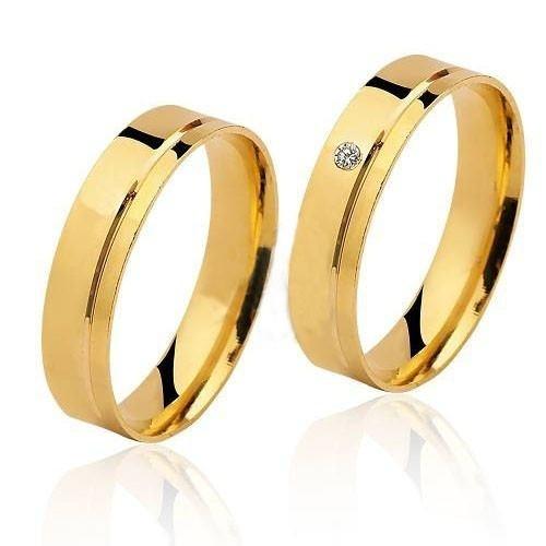 a44a7cdadc032 ... comprar online Par De Alianças Em Ouro 18k Diamante De Brinde - Código   18K95464981 na internet ...