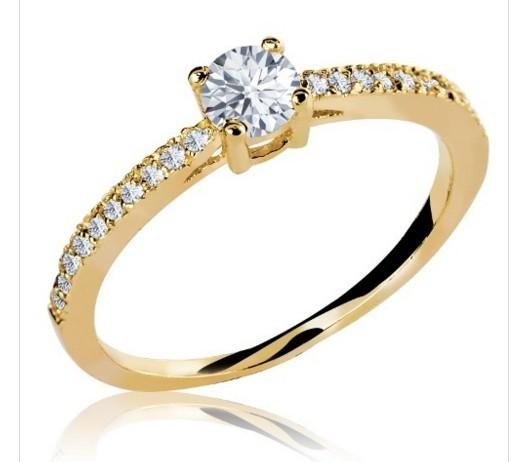 Anel Noivado Ouro 18K com Diamantes Código  18K120120000002b 9cfb570ca2