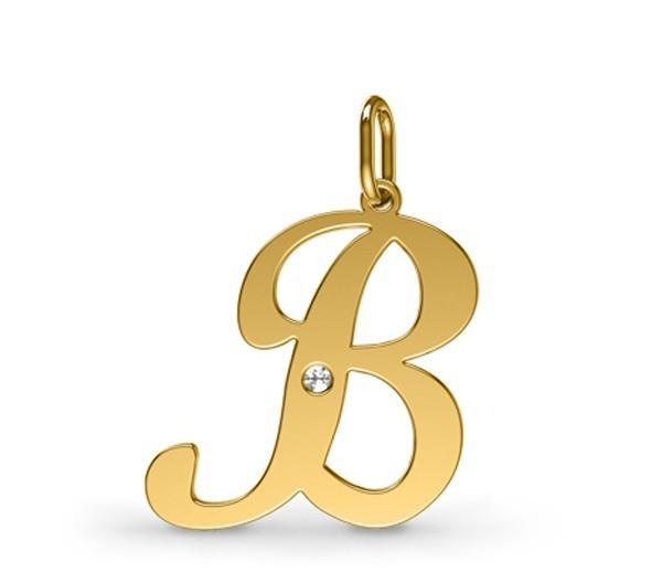7a755ceed08 Pingente Em Ouro Amarelo Letra Do Alfabeto com Diamante código  pin10126 -  comprar online ...
