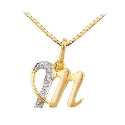 1333300f41f81 ... Pingente Letra Em Ouro 18k Com Diamantes Código  18K190520000017 -  comprar online ...
