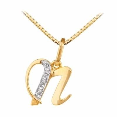 18998f75794b1 ... Pingente Letra Em Ouro 18k Com Diamantes Código  18K190520000017 na  internet ...