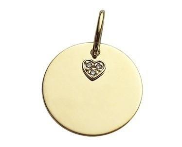Pingente Medalha Em Ouro Amarelo Ou Branco 18k Com Diamantes código   pin10127 36c2cf0d43