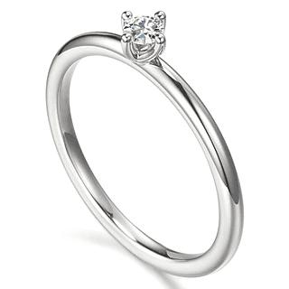 626fae96b4024 Anel Solitário, em Ouro branco 18K com Diamantes (5pts). Código   18Ksolitario28