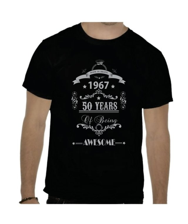 Camiseta Made in Brazil 50 years, awesome
