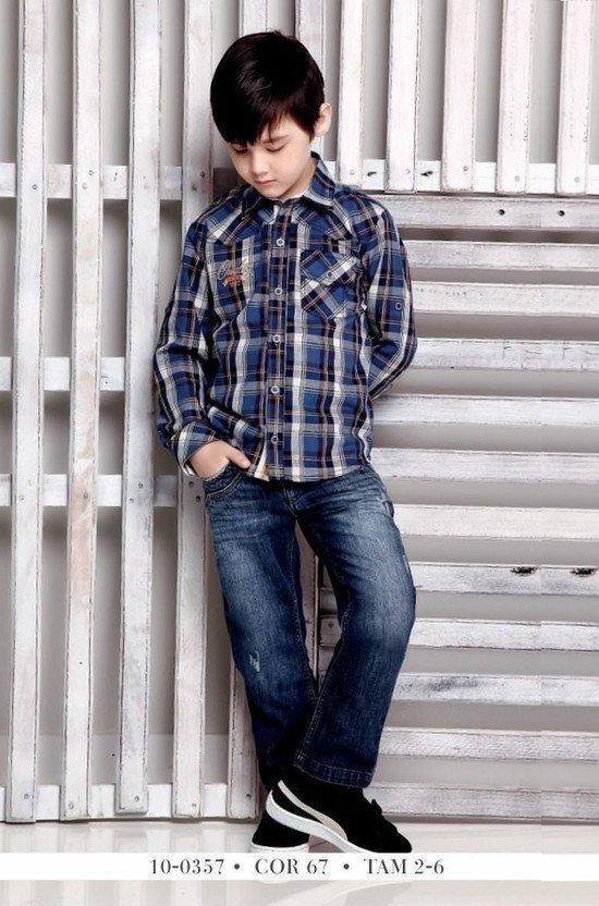 Conjunto Infantil Camisa Manga Longa com Calça Jeans Diforini 100357 8a04a820ffd