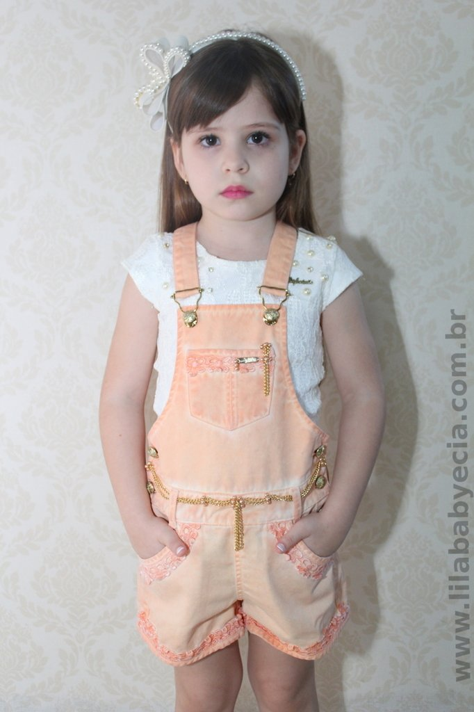 Jardineira infantil para meninas diforini moda infanto for Jardineira infantil c a