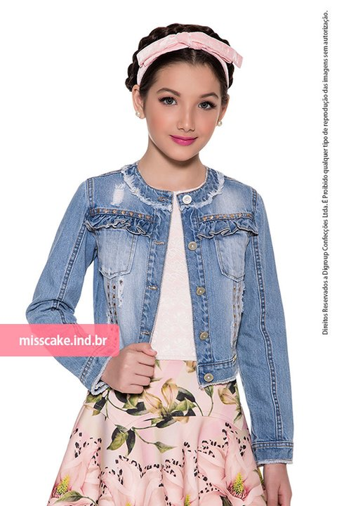 Miss Cake Youth Fashion Jeans Jacket 630012