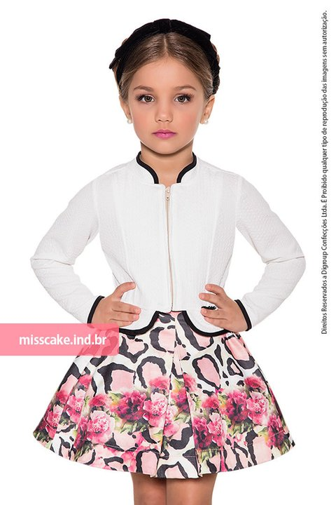 Miss Cake Youth Fashion Jeans Jacket and Skirt 630018
