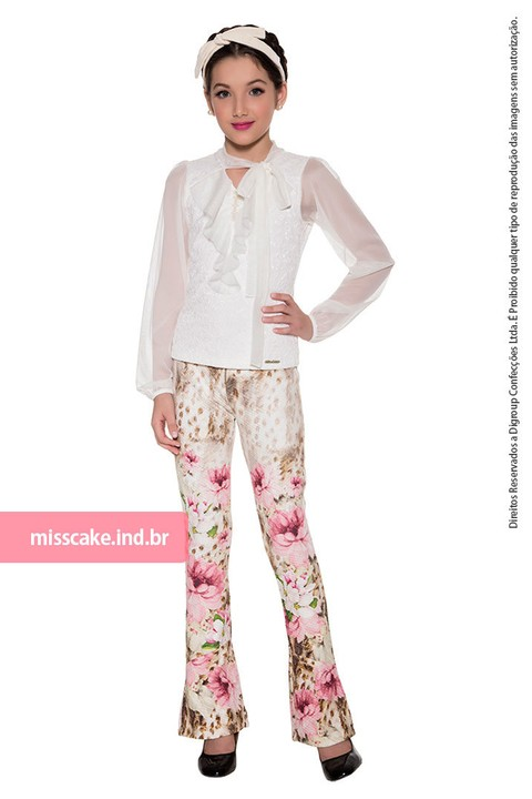 Miss Cake Fashion Children's Blouse and Pants Set 530578