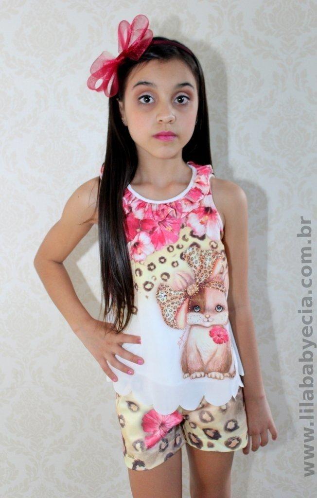cb5ee009d4 Shorts e Blusa Infantil Diforini Moda Infanto Juvenil 121233