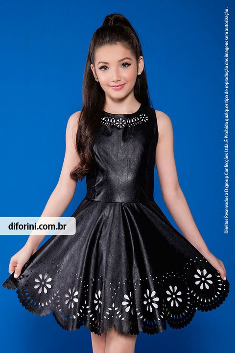 215a69e51 Vestido Infantil Diforini Moda Infanto Juvenil 010707