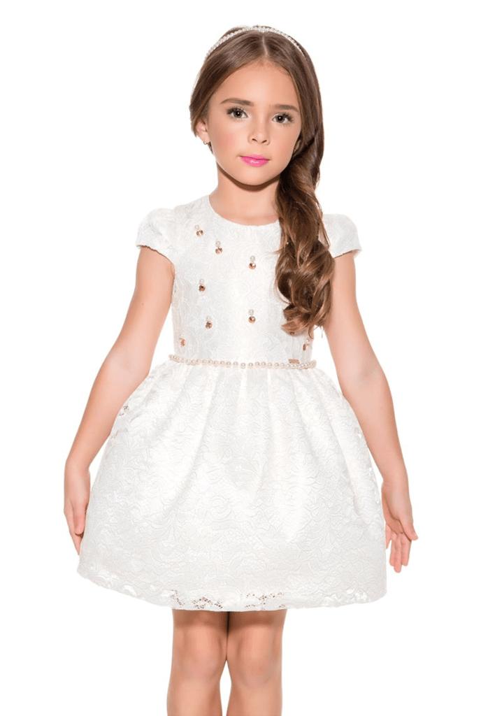 cfefb0265 Vestido Infantil Diforini Moda Infanto Juvenil 011158