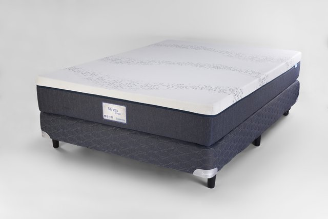 COLCHON Y SOMMIER SUAVESTAR 140X190 STRESS FREE - comprar online