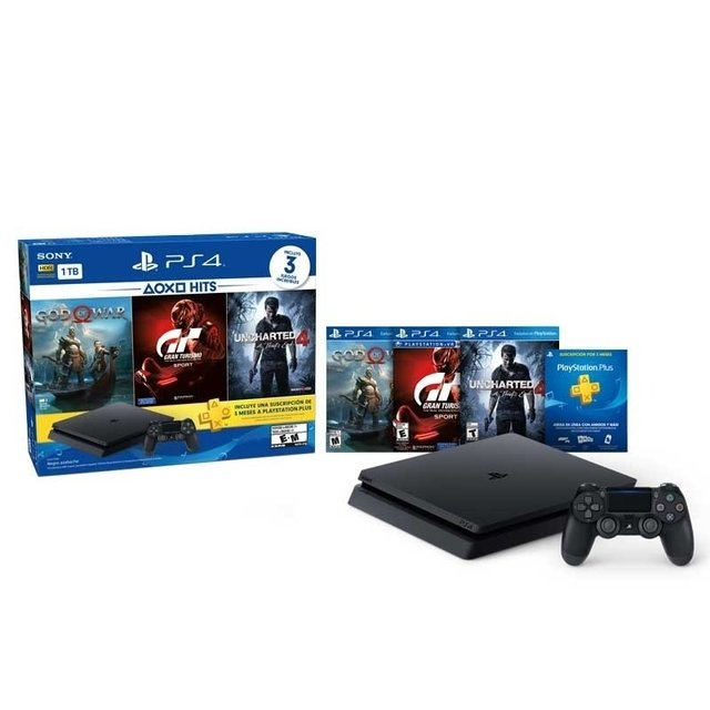 SONY PS4 + GOW-GTSUC4 1TB HITS 3